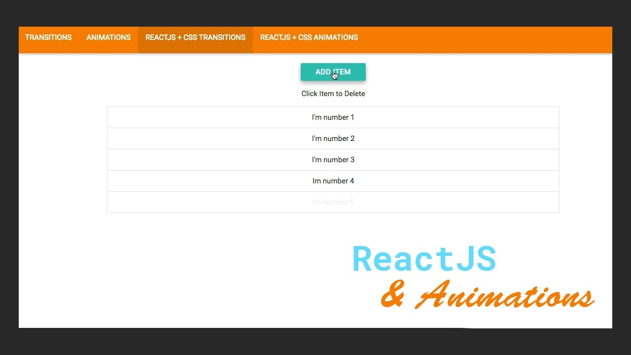ReactJS & CSS Animations Basics - #3 Transitions with  ReactCSSTransitionGroup