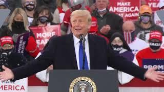 President Trump campaigns in Circleville, Ohio