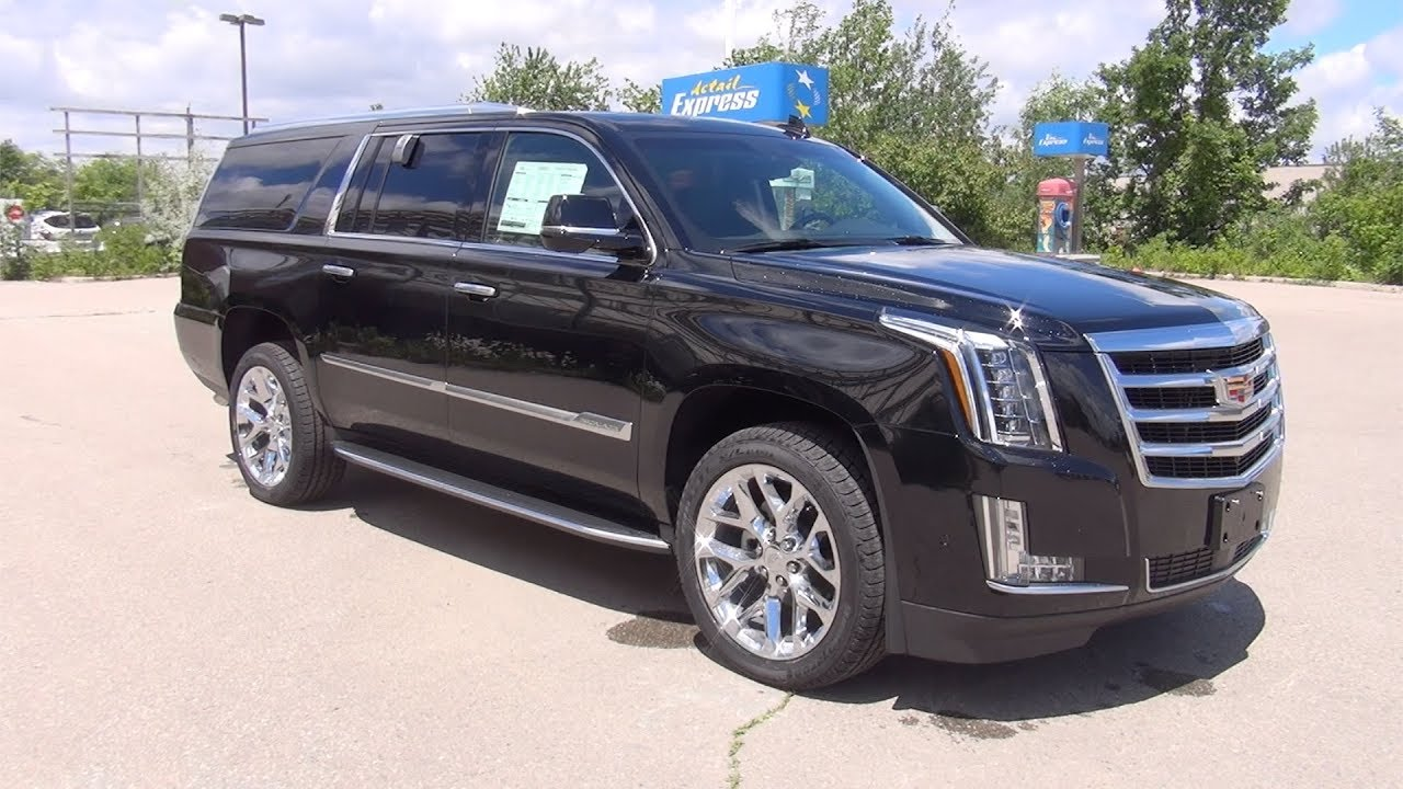 2017 cadillac escalade esv 4wd premium luxury black raven youtube. Black Bedroom Furniture Sets. Home Design Ideas