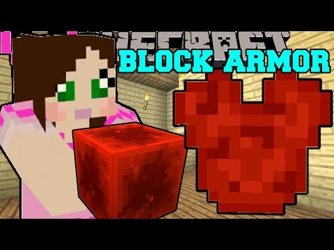 Minecraft: EPIC BLOCK ARMOR! (CRAFT ALMOST ANY BLOCK INTO ARMOR!) Mod Showcase
