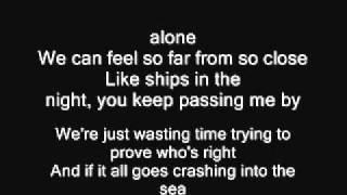 Mat Kearney - Like Ships In The Night (lyrics)