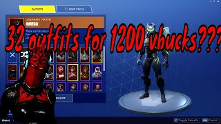 FORTNITE- HOW TO GET 32 RARE SKINS FOR 1200 VBUCKS!!! UPDATE V4.4.1