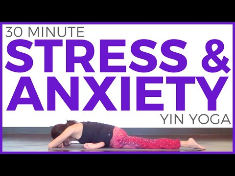 Yin Yoga for Stress & Anxiety (30 minute Yoga) Stress Relief | Sarah Beth Yoga