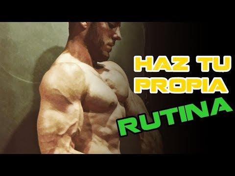 como crear mi propia rutina de ejercicios