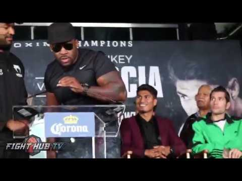 Thumbnail: Baby Miller & Gerald Washington go at it at the presser