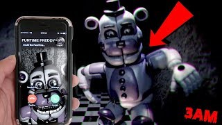 (YOU CANT HIDE?!) CALLING FUNTIME FREDDY ON FACETIME AT 3AM | FUNTIME FREDDY WANTS TO PLAY