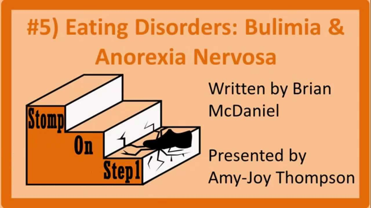 understanding anorexia and bulimia nervosa Anorexia nervosa, often referred to simply as anorexia, is an eating disorder  characterized by  abnormal interoceptive awareness like these examples have  been observed so frequently in anorexia that they have become key  characteristics.