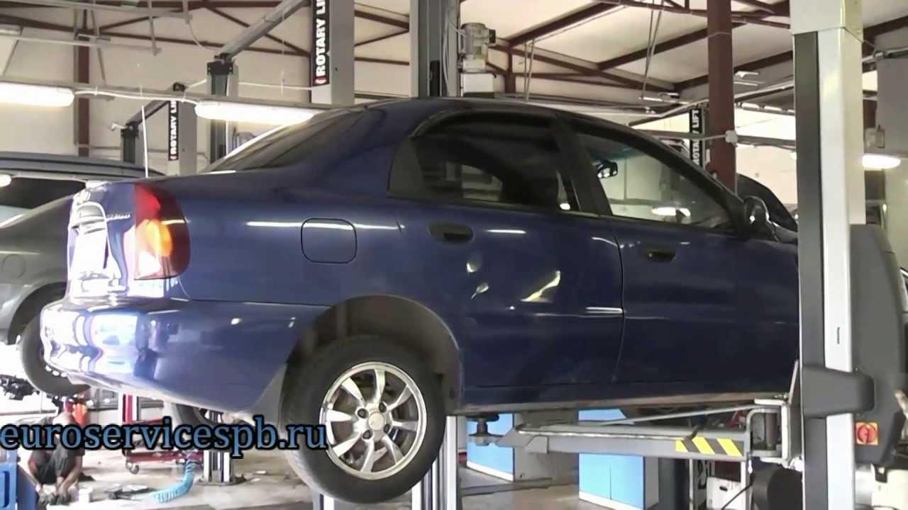 Chevrolet Aveo Авео обзор выхлопной системы MUTE - YouTube