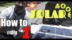Installing 400 Watts of Solar, Inverter, Isolator & Shore Power on a Van #1
