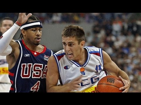 USA @ Serbia & Montenegro 2004 Athens Olympics Exhibition Friendly Match FULL GAME Serbian