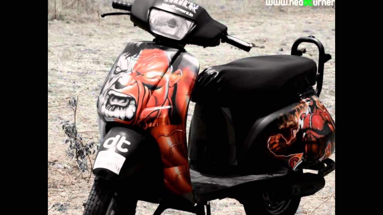 Bike stickers design india - India S First Customized Chrome Bike Made By Head Turnerz Dt Vs Hulk