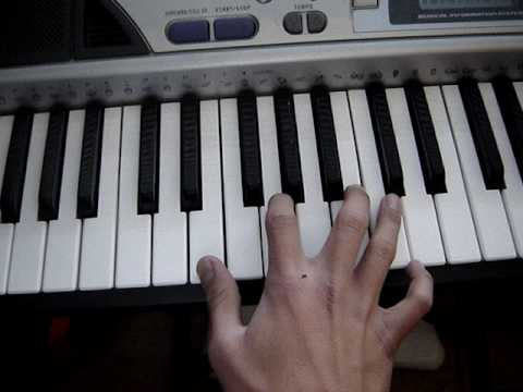 Acordes para piano Mayores y menores (chords on piano)