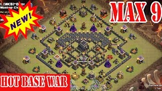 clash of clans town hall 9 th9 best war base clear 3 star hot base war 2015