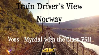 Train Driver's View: Morning sun in the mountains (Voss - Myrdal)