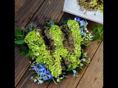 How to Make a Fresh Flower Letter Initial - Floral Monogram Letters