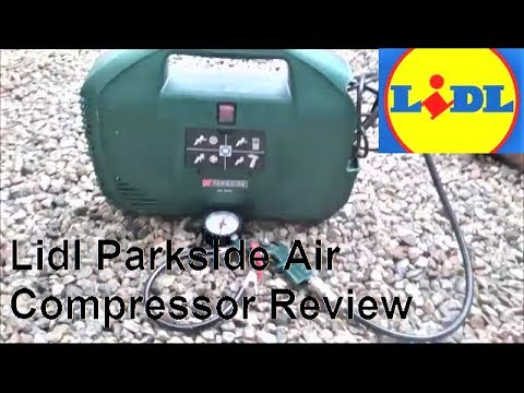 Lidl parkside air compressor review youtube for Air compressor for pool closing