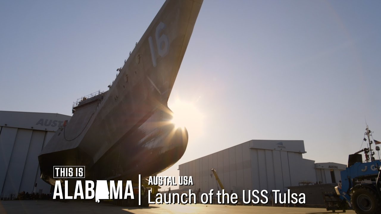 Austal USA: Launch of the USS Tulsa | This is Alabama