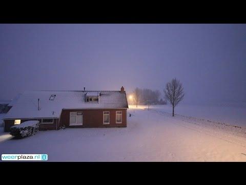 Weerbericht Zaterdag Sneeuw En Dooi Youtube