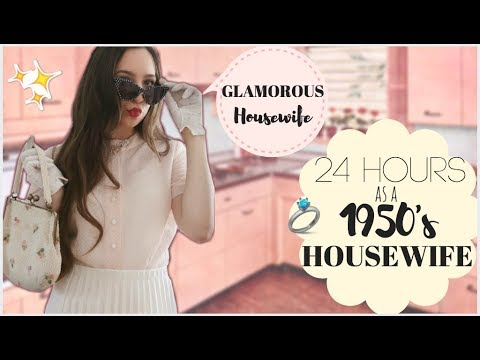 I Lived Like A GLAMOROUS 1950's HOUSEWIFE For 24 Hours
