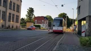 Straßenbahn Halberstadt Betriebshof Einrückfahrt