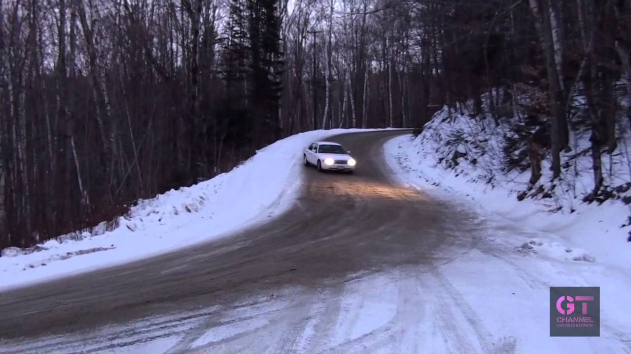 Dai Yoshihara Drifting Crown Victoria In The Snow