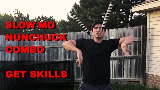 Learn an Intermediate Nunchuck Trick Combo -  SLOWMO - Bounce to Rev Grip Sym X Throw Youtube