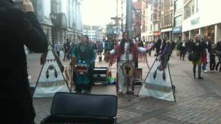 Red indian music (South american Tribal song) - Nottingham.