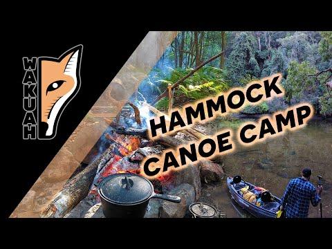 Canoe Hammock Camping On An Australian Creek