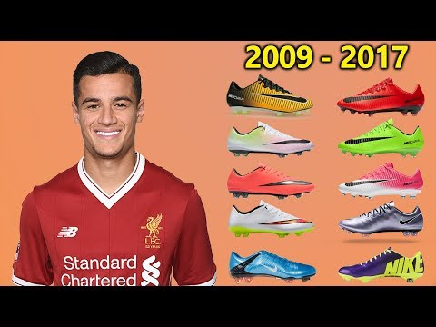 Philippe Coutinho - New Soccer Cleats & All Football Boots 2009-2017