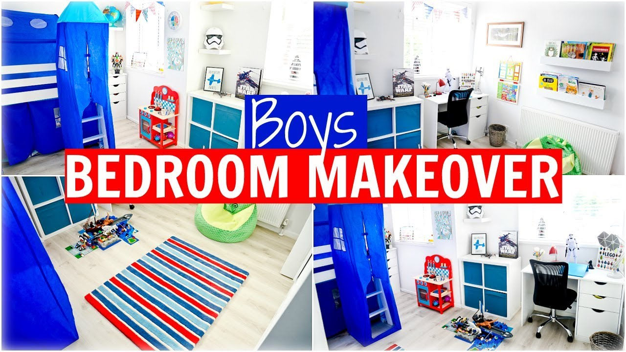 Boys Bedroom Makeover Reveal Room Tour Red White Blue