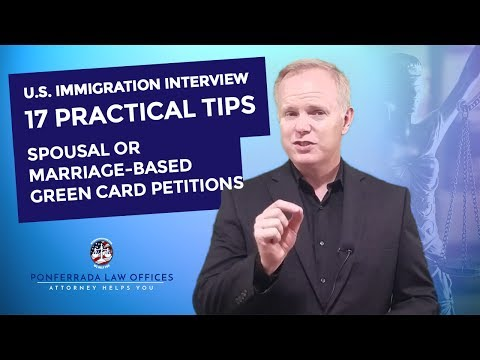 immigrant interview Review all your paperwork before the interview review the questions and answers on all the forms and documents that you and your sponsor have submitted so far.