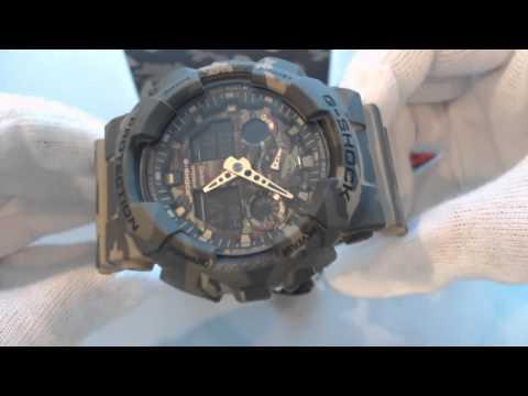 Casio G Shock Military Analog Digital Camouflage Watch GA100CM-5A