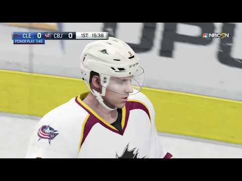 NHL 18 - Cleveland Monsters vs Columbus Blue Jackets Full Gameplay