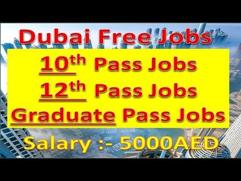 Jobs In Dubai For 10th , 12th & Graduate Pass With Good Salary | Hindi Urdu |