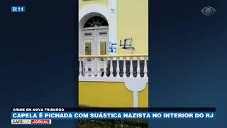 Capela é pichada com suástica nazista no interior do RJ