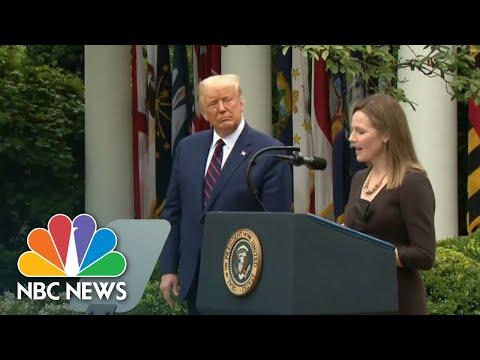 Amy Coney Barrett Confirmation Hearing To Start October 12 | NBC Nightly News
