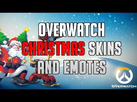 ALL OVERWATCH CHRISTMAS SKINS , EMOTES AND HIGHLIGHT INTROS - YouTube