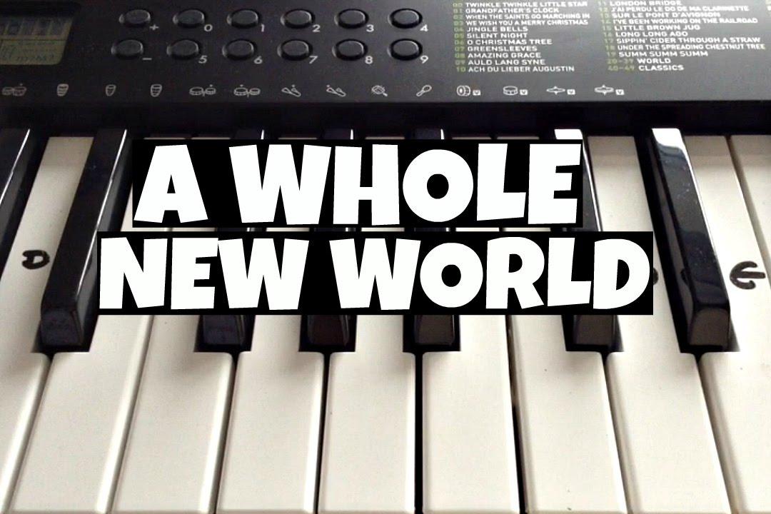 A Whole New World Disneys Aladdin Easy Keyboard Tutorial With