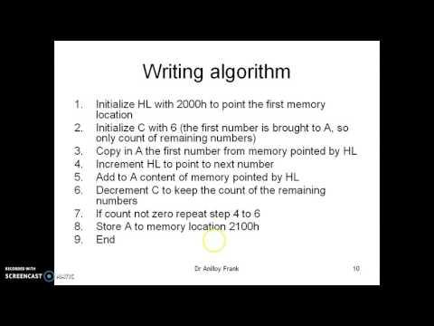 Writing 8085 Assembly Language Program