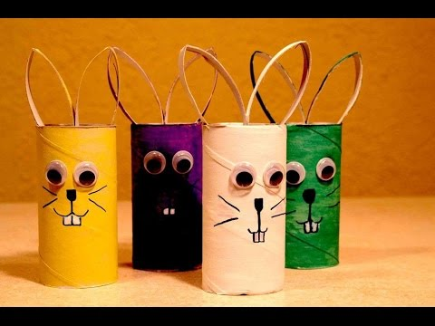 Kids easter crafts. Easter hares. Easter craft ideas.