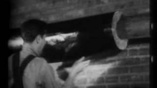 Rock wool insulation manufacture 1962