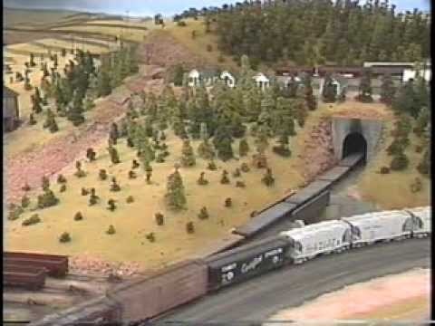 HO model railroad of Union Pacific in 1950's