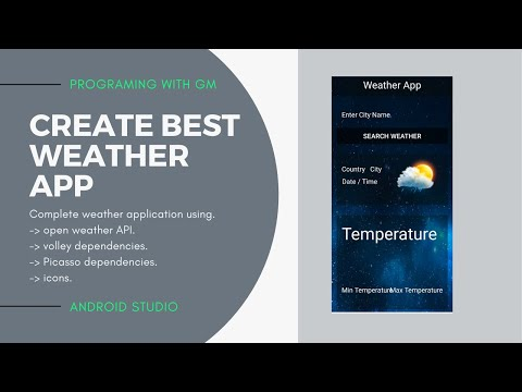 Create best weather application [part 1] - Android Studio Tutorial