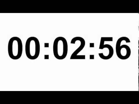 Free online 3 Minute Countdown Timer - YouTube