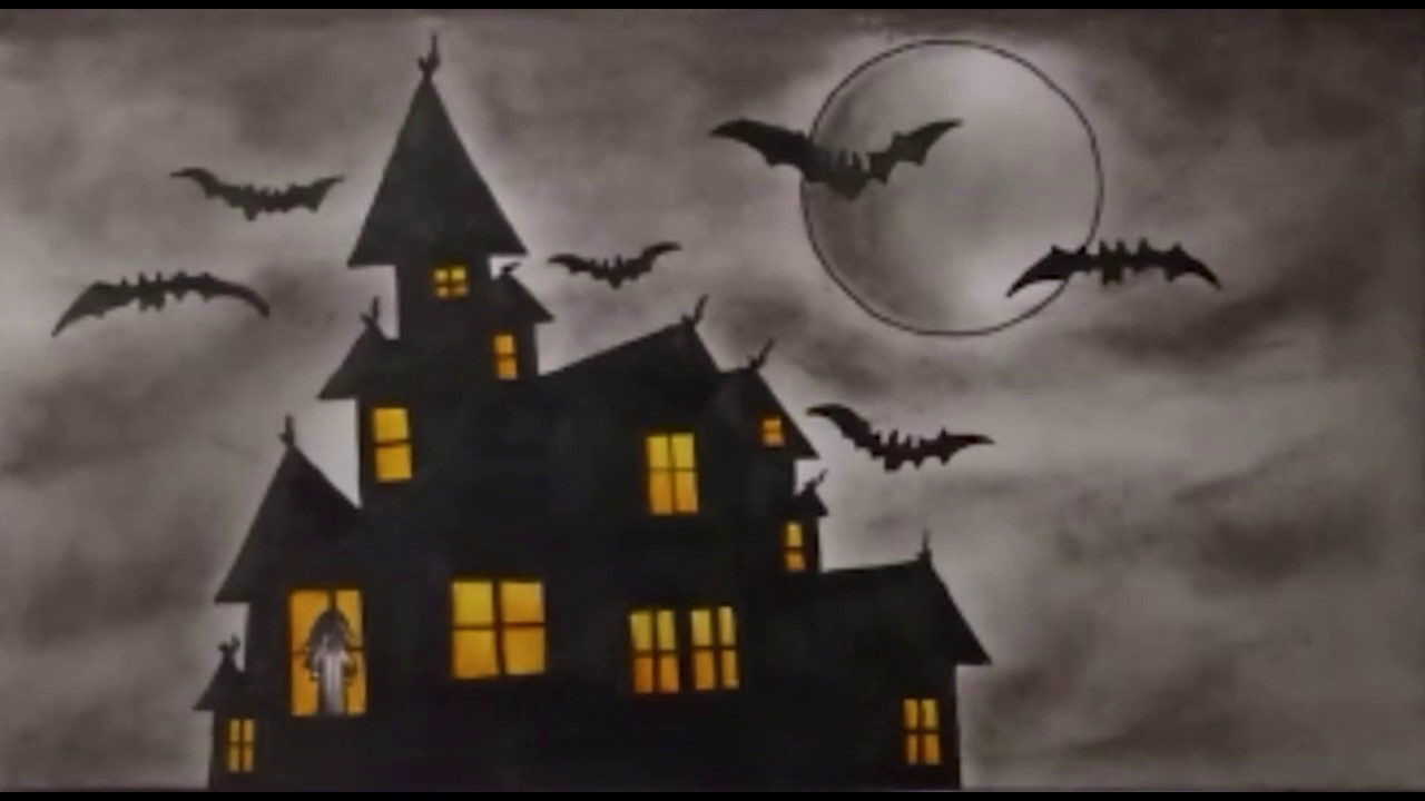 Scary Halloween Drawings - How To Draw a Haunted House ...