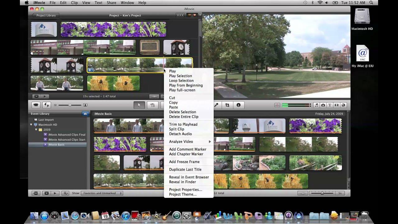 iMovie 11: Creating a Freeze Frame - YouTube