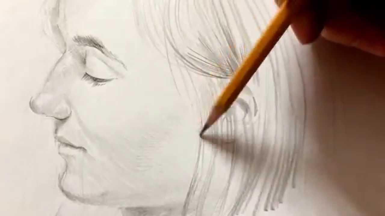How To Draw A Portrait With Pencil Rysowanie Twarzy Ołówkiem Youtube