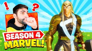 UNLOCKING *GOLD THOR* ! New Black Panther POI! (Fortnite Season 4)