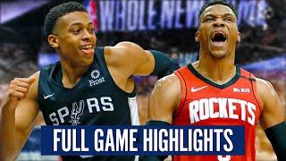 HOUSTON ROCKETS at SAN ANTONIO SPURS - FULL GAME HIGHLIGHTS   2019-20 NBA Season