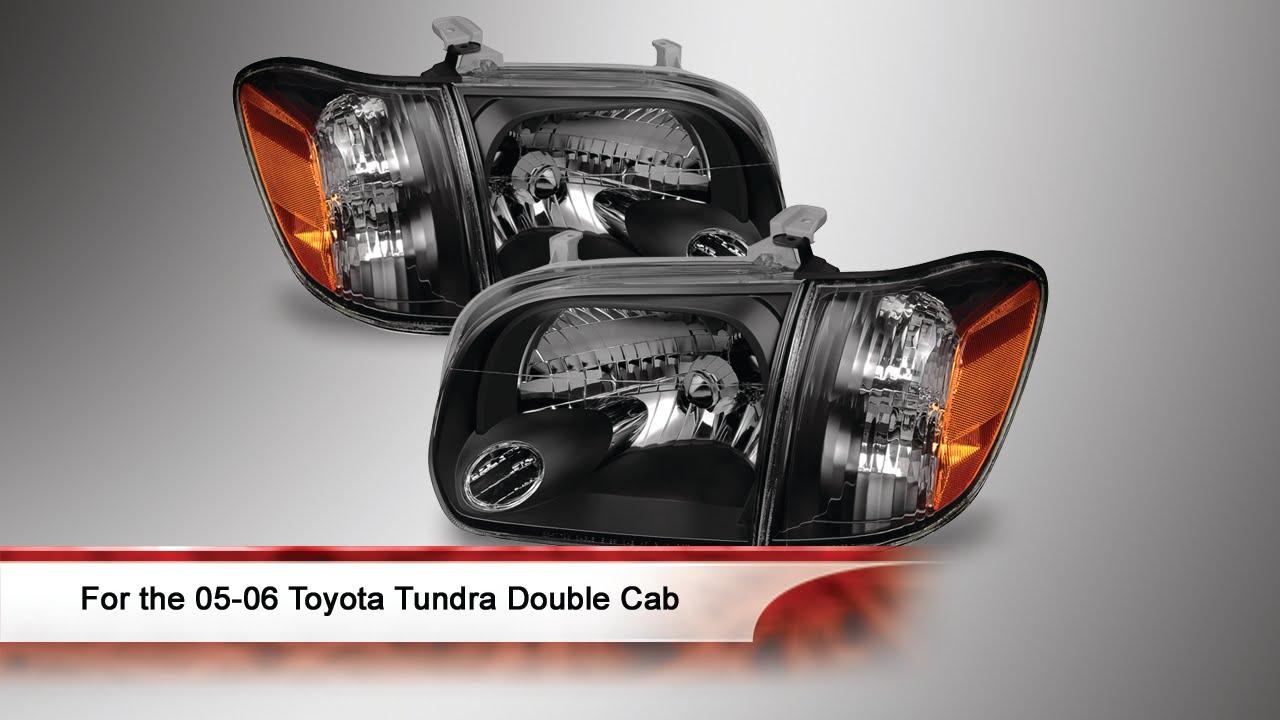 05 06 Toyota Tundra Double Cab 4 Door Oem Style Headlights